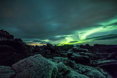 Aurora borealis (Northern Lights) in Iceland Royalty Free Stock Photo