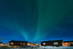 Aurora borealis, the Northern Lights, Lofoten Islands Royalty Free Stock Photo