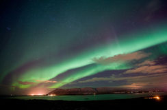 Aurora Borealis in Iceland Stock Images