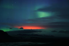 Aurora borealis or the northern lights Royalty Free Stock Images