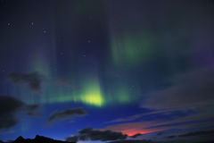 Aurora borealis or the northern lights Royalty Free Stock Photo