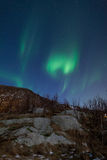 Aurora Borealis (Northern lights) reflecting Royalty Free Stock Photography