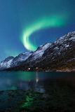 Aurora Borealis (Northern lights) reflecting. High resolution image of Aurora Borealis natural pneumonia Royalty Free Stock Photos