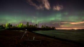 Aurora Borealis stock video