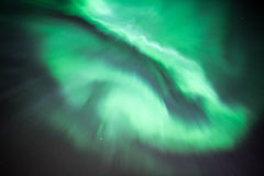 Aurora Borealis or Northern Lights. True geomagnetic storm in Norway Royalty Free Stock Photo