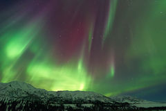 Aurora Borealis Northern ljus arkivbild
