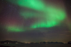 Aurora borealis in norway Royalty Free Stock Photography