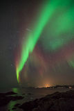 Aurora borealis in norway Stock Photo