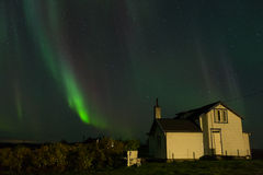 Aurora Borealis with old house Royalty Free Stock Photography