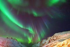 Aurora Borealis Over Ersfjorden, Tromso, Norvège Images libres de droits
