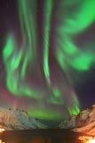 Aurora Borealis Over Ersfjorden, Tromso, Norway royalty free stock photography