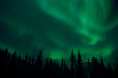 Aurora Borealis over Fairbanks, Alaska Stock Photo