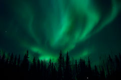 Aurora Borealis over Fairbanks, Alaska Royalty Free Stock Images