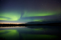 Aurora Borealis Over a Lake Royalty Free Stock Images