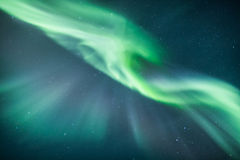 Aurora borealis over scandinavia Royalty Free Stock Image