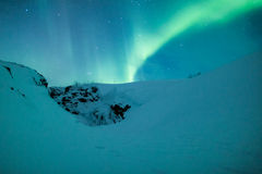 Aurora borealis over scandinavia Royalty Free Stock Photography