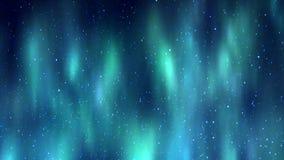 Aurora borealis over stars