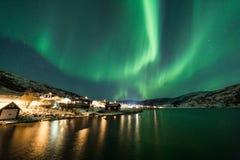 Aurora borealis over Tromso Royalty Free Stock Photos