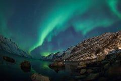 Aurora borealis over Tromso Royalty Free Stock Photo
