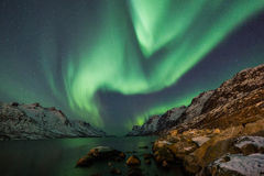 Aurora borealis over Tromso Royalty Free Stock Images