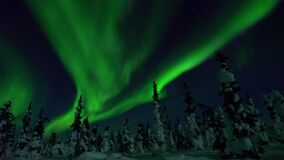 Aurora Borealis, Polar Lights, Night, Northern Lights, Alaska, Solar Wind Stock Photos