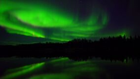 Aurora Borealis, Polar Lights, Northern Lights, Alaska, Solar Wind, Night Royalty Free Stock Photos