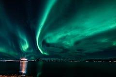 Aurora Borealis - scandinavia Stock Image
