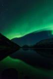 Aurora Borealis Scenery Royaltyfria Bilder