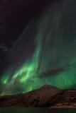 Aurora Borealis Scenery Arkivfoto
