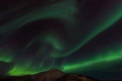 Aurora Borealis Scenery Royaltyfri Foto