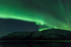 Aurora Borealis Scenery av Norge Royaltyfria Bilder