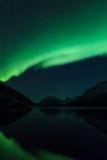 Aurora Borealis Scenery av Norge Royaltyfri Foto
