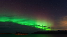 Aurora Borealis with Shooting Star 4k stock footage