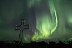 Aurora Borealis. On the sky over Denali National Park, Alaska Royalty Free Stock Image