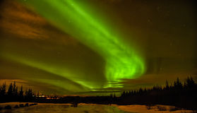 Aurora Borealis. In the sky over Iceland Royalty Free Stock Images