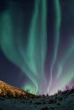 Aurora borealis sobre Tromso Imagens de Stock