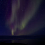 Aurora Borealis sopra la baia 013 Fotografie Stock