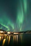 Aurora borealis sopra Tromso Fotografia Stock