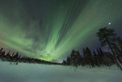 Aurora borealis spectaculaire (lumières du nord) Photos stock