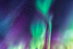 Aurora Borealis on a starry sky Royalty Free Stock Photos