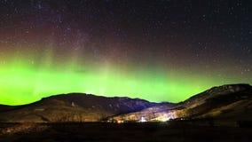Aurora Borealis Timelapse stock video footage