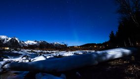Aurora borealis in a timelapse stock video