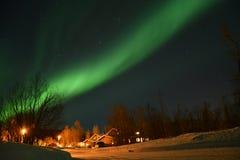 Aurora borealis in Tromsø immagini stock