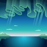 Aurora Borealis Vetora Illustration Imagens de Stock