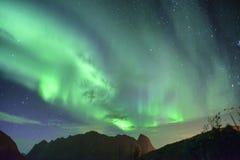 Aurora Borealis (northern lights) from Lofoten, Norway Stock Photo