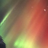 Aurora borealisachtergrond - vectorillustratie Stock Foto's