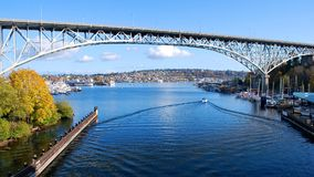 Aurora Bridge Stock Image