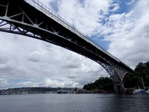 Aurora Bridge, sob o reparo imagens de stock royalty free