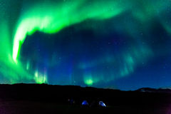 Aurora camping, Iceland Royalty Free Stock Images