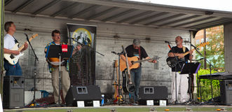 AURORA, CANADA - June 2, 2013: Musicians performed at the street Stock Photos